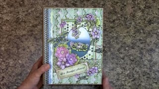 Free step by step tutorial on how to make this 7 x 9 album using Heartfelt Creations Winking Frog paper collection. For beginners or seasoned crafters. You '...
