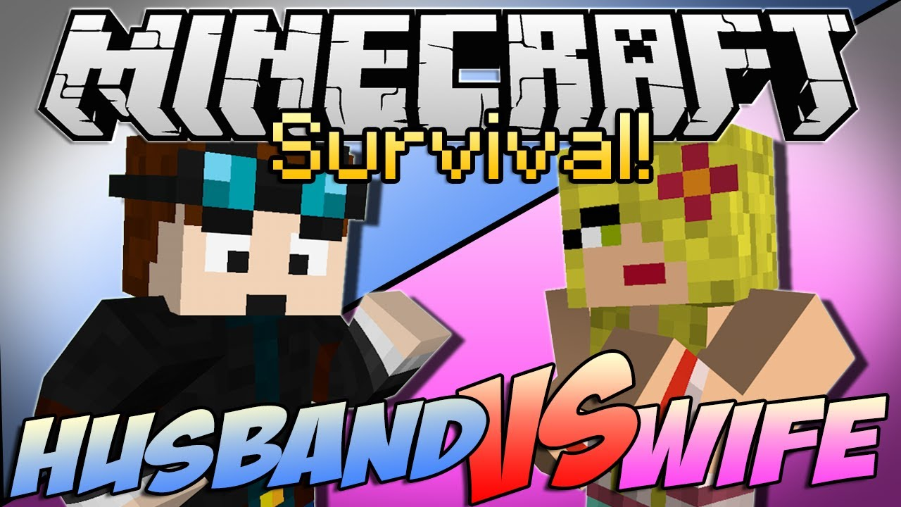 "Minecraft | HUSBAND vs WIFE SURVIVAL! | Episode 1 ""Chicken Showdown"""