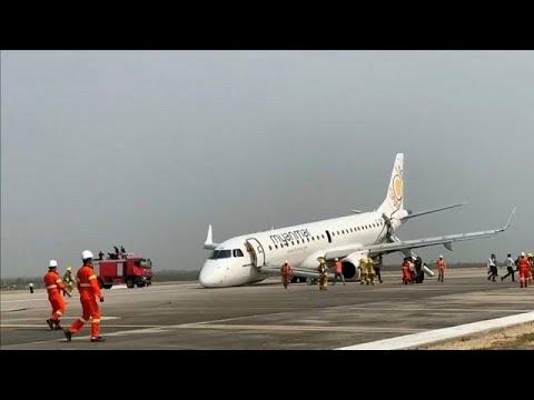 Μιανμάρ: Δραματική επείγουσα προσγείωση