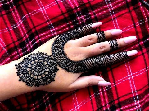 How To Apply Beautiful Flowers Easy Mandala Gol Tikki Henna Mehndi