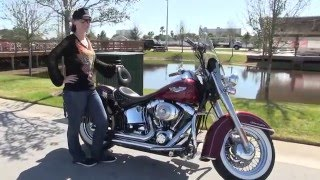 6. 2005 Harley Davidson Softail Deluxe Motorcycle