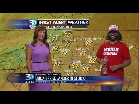 Comedian Judah Friedlander Does the Weather on WBTV