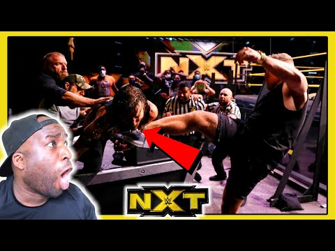 Pat McAfee's knocks out Adam Cole with a punt !!!| WWE NXT | REACTION