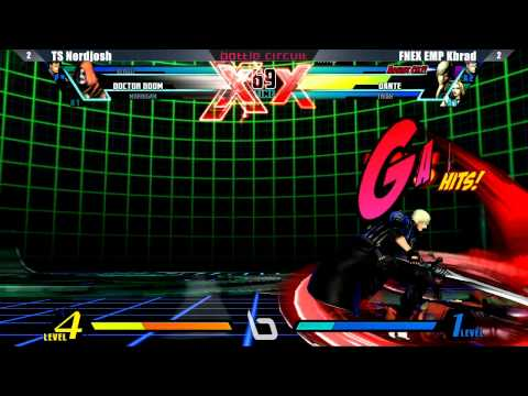 capcom - UMVC3 - Next Level Battle Circuit #19 Tournament Part 8 Players Featured: Loud Zeus - EMP Sanford Kelly - EMP Dieminion - AGE NYChrisG - AGE NYC Fab - EMP CD...