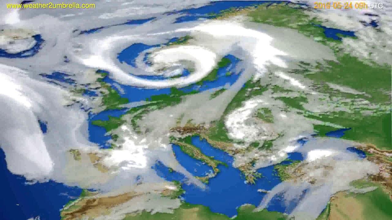 Cloud forecast Europe // modelrun: 12h UTC 2019-05-22