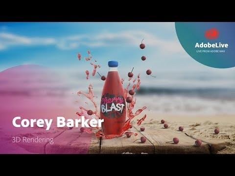 Live 3D in Adobe Dimension with Corey Barker | Adobe MAX 2017
