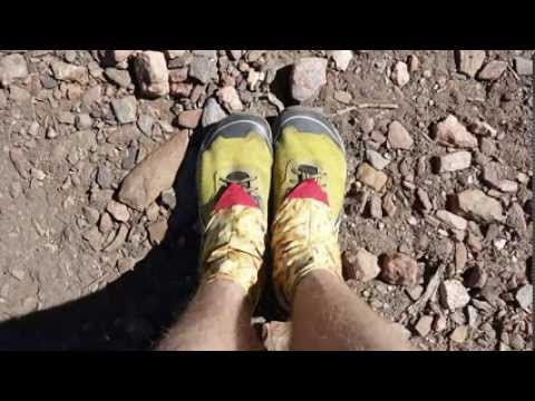 Hiker timelapse wearing out shoes hiking from Mexico to