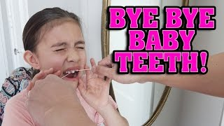 I Lost My First Tooth! https://youtu.be/ayoXJOPrMXYMore teeth pulling action: https://youtu.be/wA-PJr0LDjYCHECK OUT OUR OTHER CHANNELS!EvanTubeHD: http://www.youtube.com/EvanTubeHDEvanTubeRAW: http://www.youtube.com/EvanTubeRAWEvanTubeGaming: http://www.youtube.com/EvanTubeGamingFOLLOW US!Instagram: http://www.instagram.com/evantubehdFacebook: https://www.facebook.com/EvanTubeHDTwitter: https://twitter.com/EvanTubeHDIt's finally time to pull Jillian's two front teeth.  These little buggers have been with Jillian for over 8 years and her adult teeth are already starting to poke out behind them.  They've overstayed their welcome so it's time to call Daddy Dentist to do his thing!EvanTubeHD T-shirts NOW AVAILABLE!: http://www.rodeoarcade.com/collections/evantubehdProduction Music courtesy of Epidemic Sound