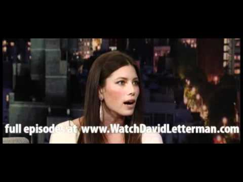 Jessica Biel in Late Show with David Letterman December 7, 2011