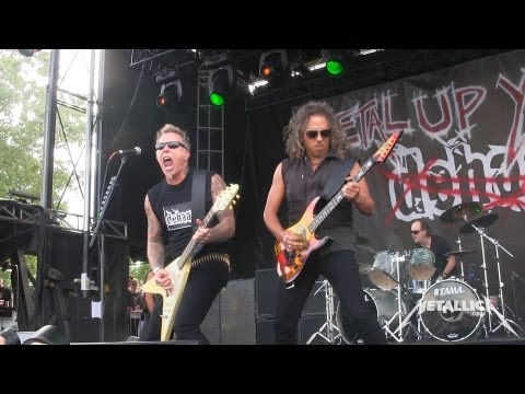 Metallica - dehaan stormed the small Damage Inc. stage in the middle of the afternoon on June 8, 2013 during Orion Music + More Day #1. Jump in the Fire in Tuning Room (...