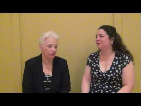 Rebecca York on camera with Diana Belchase