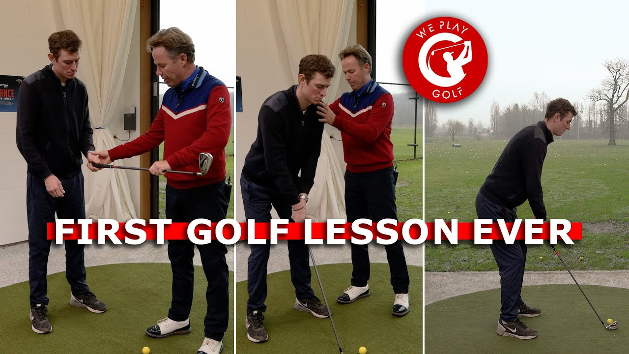 First GOLF LESSON ever