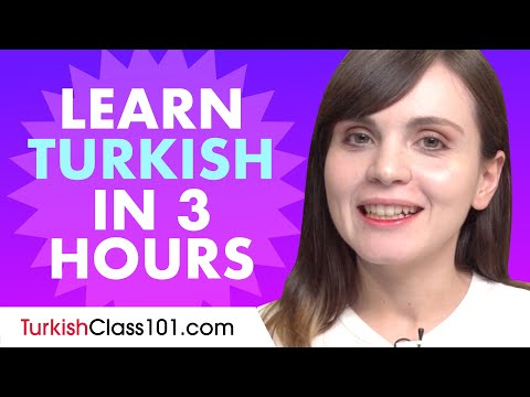 Learn Turkish in 3 hours - ALL the Turkish Basics You Need in 2020