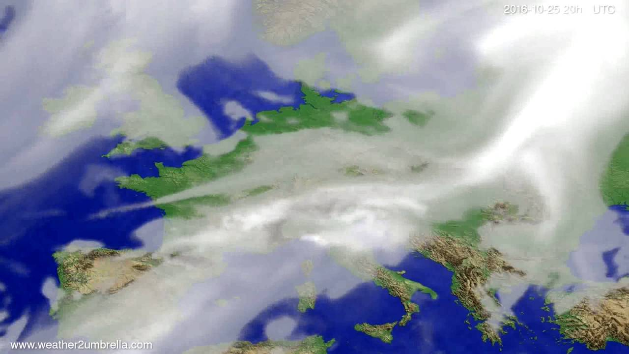 Cloud forecast Europe 2016-10-23