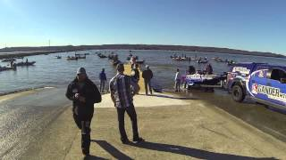 2014 Bassmaster Classic: Time lapse of anglers returning to the boat ramp on day 1