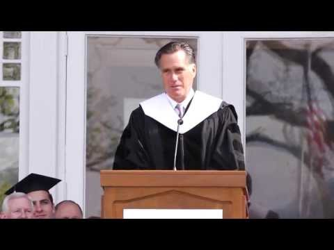 mitt romney - http://svu.edu/news/archives/2013/mitt-romney-at-2013-commencement Mitt Romney, former governor of Massachusetts and Republican Party nominee for President o...