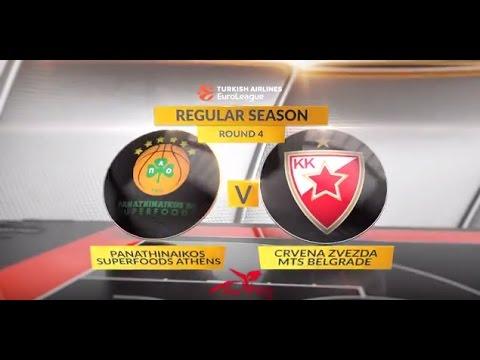 EuroLeague Highlights RS Round 4: Panathinaikos Superfoods Athens 70-59 Crvena Zvezda mts Belgrade