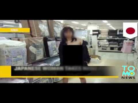 Japonka robi sobie nagie sesje zdjęciowe w miejscach publicznych.