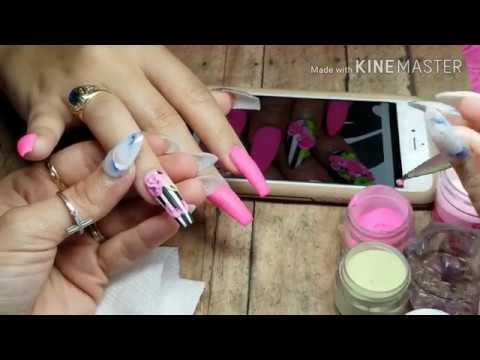 Diseños de uñas - 2 DISEÑOS con Rosa en 3 d/ Tips y concecos para hacer tu rosa en 3d