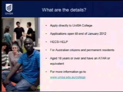 Foundation Studies & Diplome - Open Day 2011 - University of South Australia