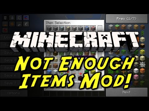 Minecraft Mod Showcase: Not Enough Items Mod! (ITEM RECIPES, SMELTING INFO, AND MORE!)