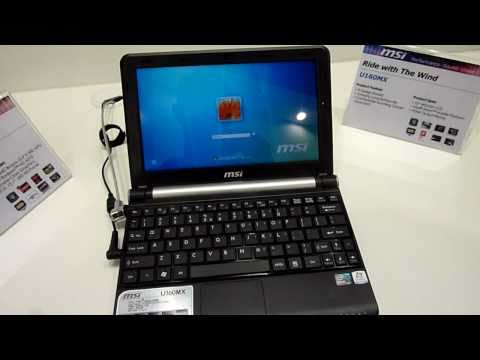 MSI Wind U160MX Netbook Hands On