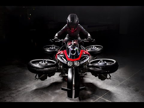 "Lazareth LMV 496 - TEASER - ""La Moto Volante"" - Flying Bike"