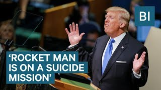 Trump threatens to 'totally destroy North Korea' in major UN speech