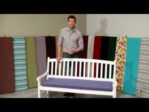 Coral Coast 55 x 18 Outdoor Bench and Swing Cushion – Product Review Video