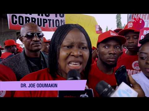 Nigerians Issue Red Card To Corruption! Another Protest Erupts In Lagos - DelarueTV | Exclusive