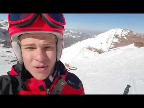 Christoffer Faarup træner på ski i Chile