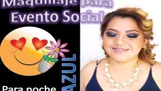 Maquillaje para evento social en la noche