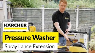 For all your Karcher spares visit: http://bit.ly/2bmXDCYNeed extra reach when using your pressure washer? These extension shafts are an easy solution for reducing back ache and fatigue and allowing greater reach.