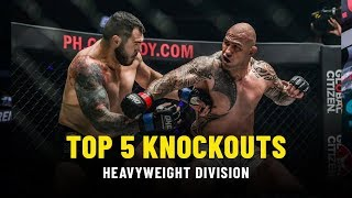 Video Top 5 Heavyweight Knockouts | ONE Highlights MP3, 3GP, MP4, WEBM, AVI, FLV Juli 2019