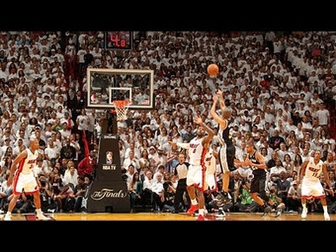 three - Check out tonight's International Play of the Day from the NBA Finals Game 6 overtime thriller that comes to us from Tony Parker who hits the clutch step-bac...