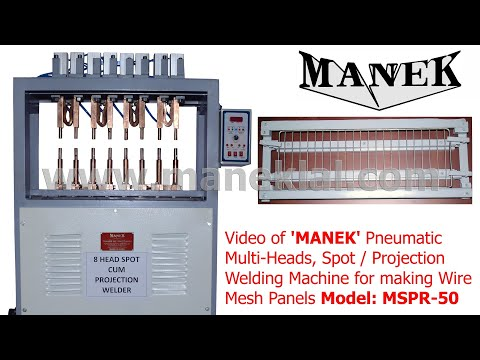 MANEK - Pneumatic Spot Welder Model: MSPR-50, with Multi Heads for Wire Mesh Panel