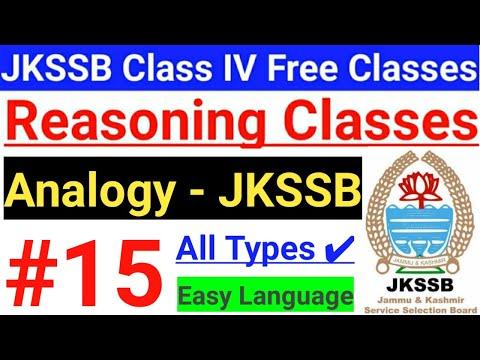 #15 Analogy - JKSSB Class IV Vacancy Reasoning Free Classes // All Types of Analogy  || Basics 🔥🔥