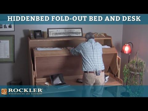 hiddenbed foldout bed and desk mechanism