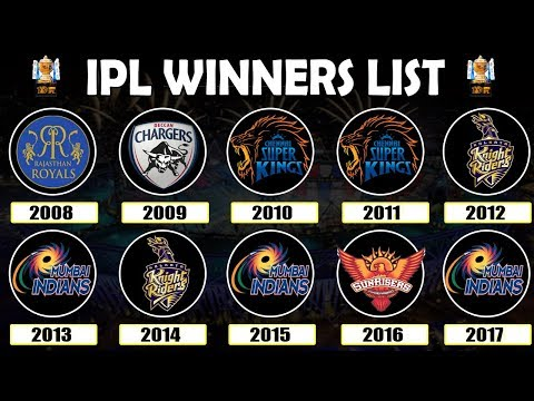 Video VIVO IPL 2018 | Winners List | Year Wise | 2008 - 2017 | All Seasons | Final Matches download in MP3, 3GP, MP4, WEBM, AVI, FLV January 2017