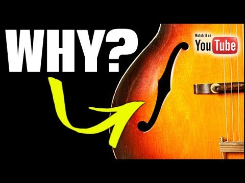 """Why the Acoustic """"F-Hole"""" Guitar Design?"""