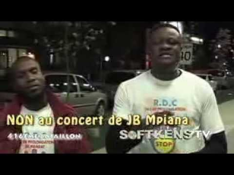 TÉLÉ 24 LIVE: Les combattants du Canada dit non au concert de JB Mpiana le 21 dec 2013 à Paris