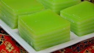 Chan Thailand  city photos gallery : How to Make Thai Khanom Chan (steamed pandan layer cake) ขนมชั้นใบเตย (千層糕)