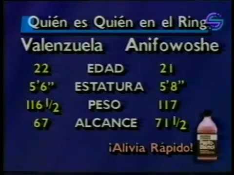 "1990-02-16 ""Kid"" Akeem Anifowoshe vs Alejandro Valenzuela/Аким Анифовоше - Алехандро Валенсуэла"