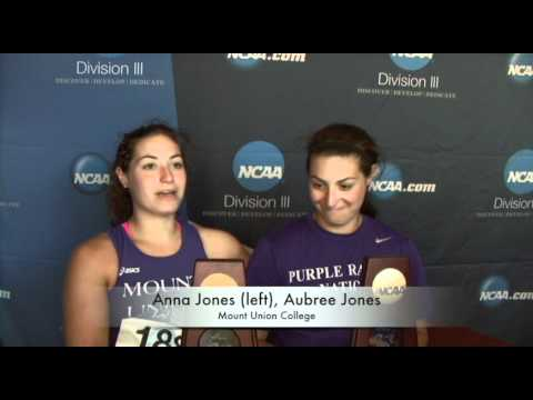Aubree and Anna Jones at NCAA Track & Field Championships