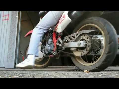NX 650 Dominator sound and winter ride