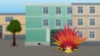 Мультфільм про правила поведінки під час виникнення артилерійського обстрілу