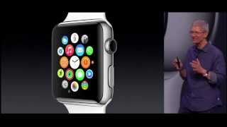"""Apple's Watch may be one of the most-anticipated products of recent years. Now it's here and Apple's simply calling it Apple Watch. It will be available in early 2015, starting at $349.Apple's first wearable device will come in two sizes (38mm and 42mm) in three """"collections,"""" including a more durable Sport model and a high-end Apple Watch Edition, which is finished in 18K gold. Six different bands will be available, some in multiple color options.All the watches have touch-screen displays and come equipped with a flexible Retina Display (with laminated crystal of sapphire), a """"digital crown,"""" along with infrared LEDs and photo diodes that take your pulse and """"turn movement into data."""" Apple calls it a """"Comprehensive health and fitness device.""""The watch runs on a brand-new S1 processor, is equipped with a gyro accelerometer and can piggyback off the Wi-Fi and GPS on your phone. You press down on the crown to get to the home screen. The watch will take dictation, and offers very precise synchronized time to plus or minus 50 milliseconds."""
