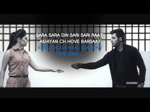 New Punjabi Songs 2016 | Sari Sari Raat | Lyrical Video | Azaan Sahab | Latest Punjabi Songs