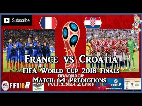 France vs Croatia | FIFA World Cup 2018 Final | Match 64 Predictions FIFA 18