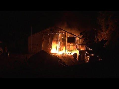 Χίος: Επίθεση με μολότοφ ενατίον προσφυγικού καταυλισμού – Ένας τραυματίας